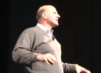Steve Ballmer speaking at Stanford
